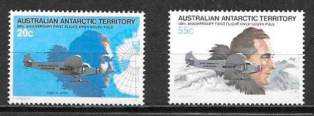 sellos transporte Australia Territorio Antártico 1979