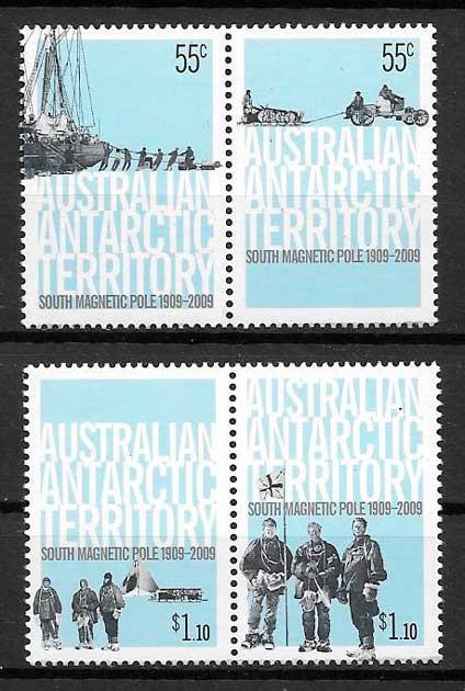 colección sellos transporte Australia Territorio Antártico 2009