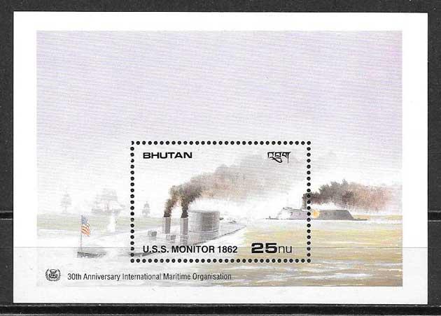 sellos transporte Bhutan 1989