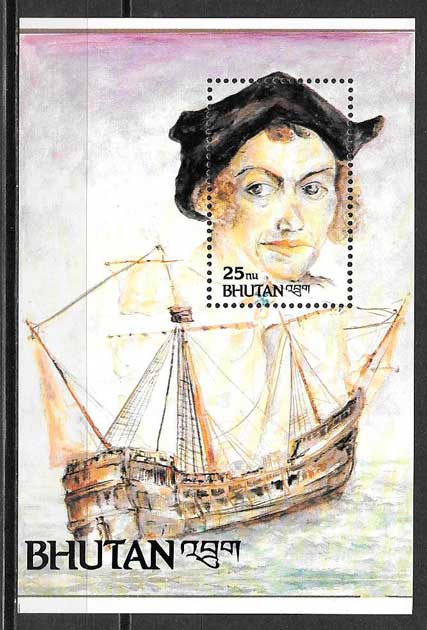 sellos transporte Bhutan 1992