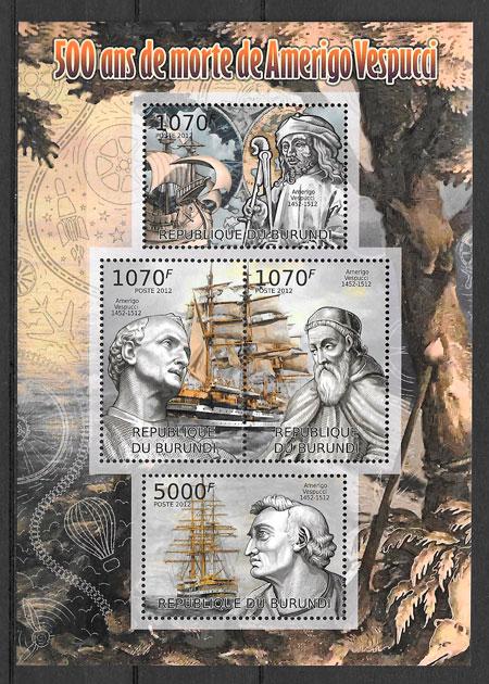 sellos personalidad Burundi 2012