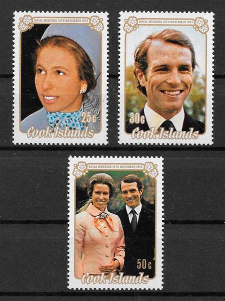 colección selos personalidades Cook Islands 1973