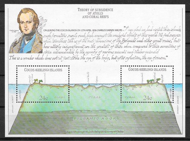 sellos personalidades Cocos Islands 1981