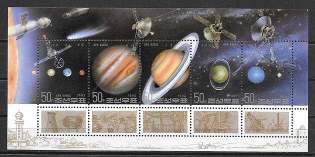 Colección sellos astronomía Corea 1992