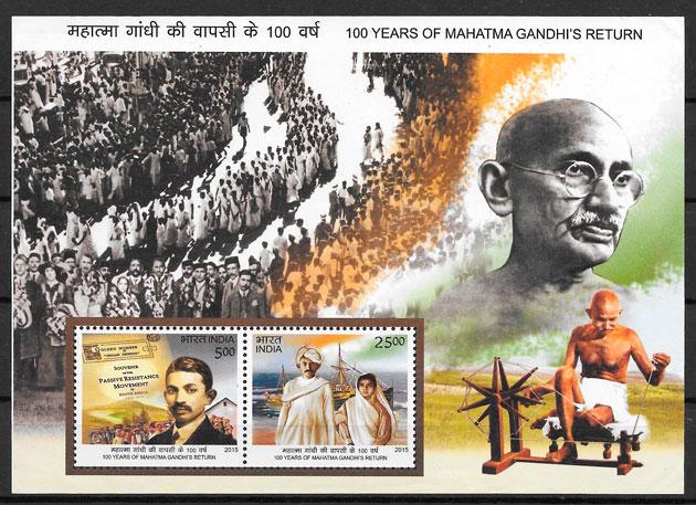 sellos personalidad India 2015