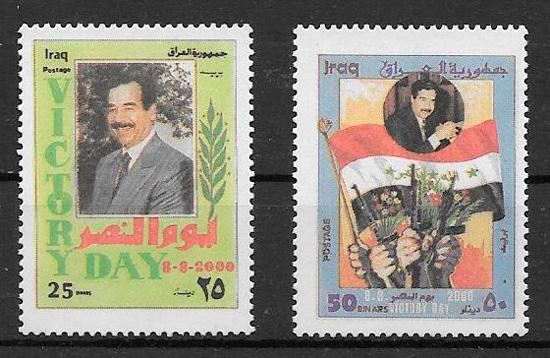 colección sellos personalidades Iraq 2000