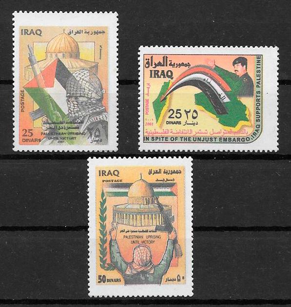 sellos personalidades Iraq 2001