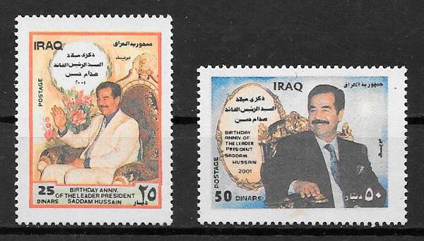 colección sellos personalidades Iraq 2001