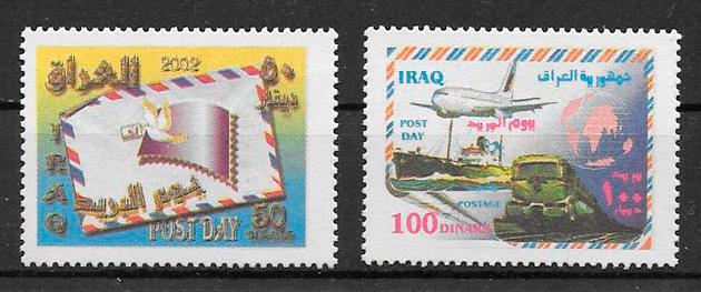 filatelia colección transporte Iraq 2002