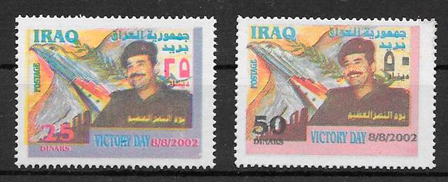 colección sellos personalidad Iraq 2002