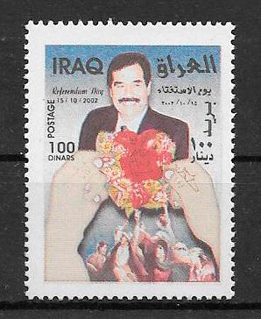 colección sellos personajes Iraq 2002