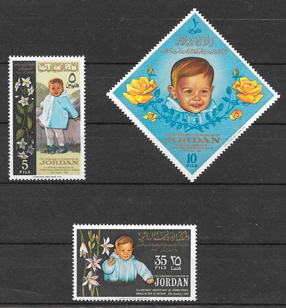 colección sellos personalida Jordania 1964