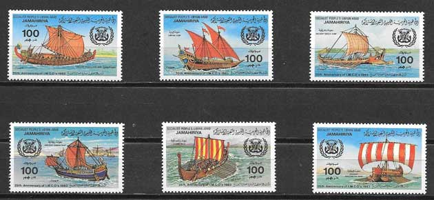 Coleccionismo transporte Libia 1983