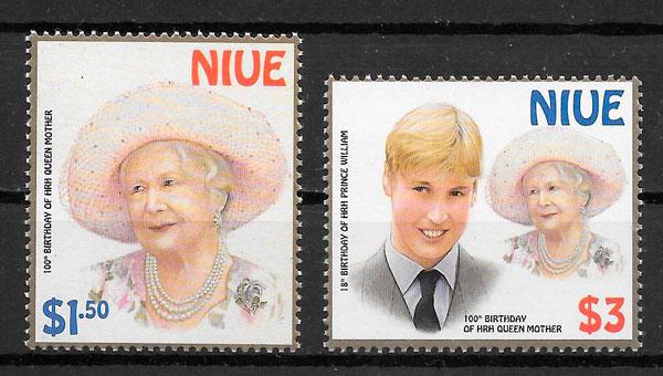 sellos personalidades Niue 2000