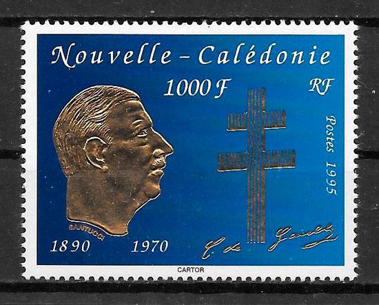 filatelia personalidad Nueva Caledonia 1995
