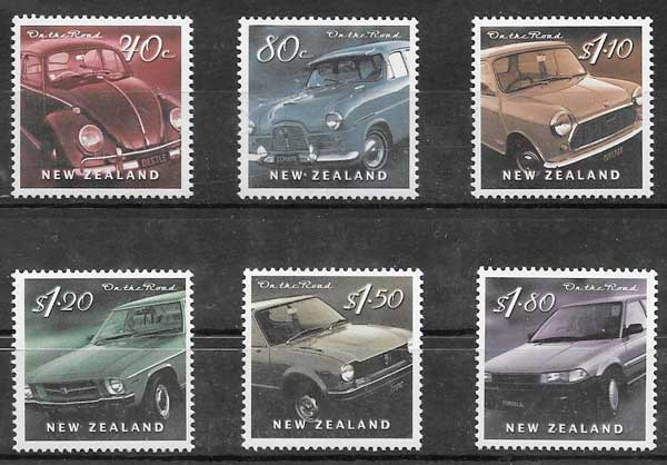 sellos transporte Nueva Zelanda 2000