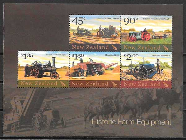 sellos transporte Nueva Zelanda 2004