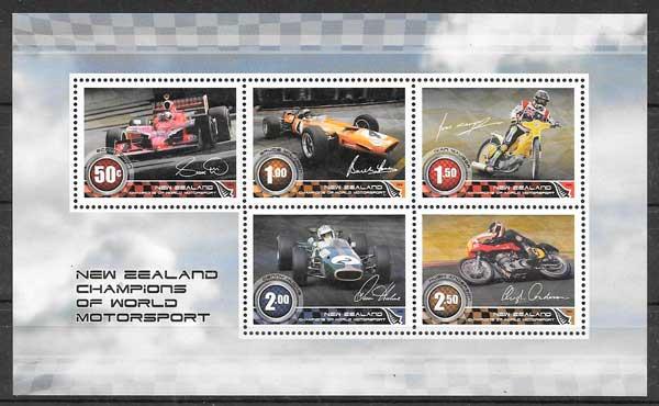 sellos transporte Nueva Zelanda 2009