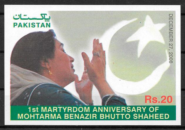 colección selos personalidad PAKISTAN 2008