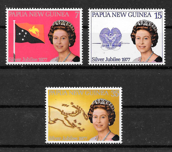 filatelia personalidades Papua y Nueva Guinea 1977