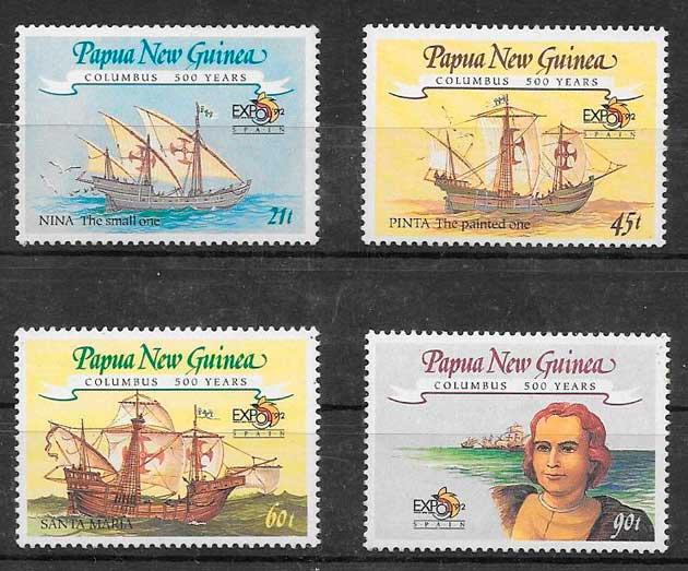 filatelia transporte Papua y Nueva Guinea 1992