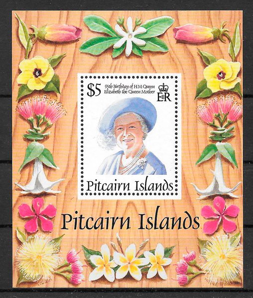 sellos personajes Pitcairin Island 1995