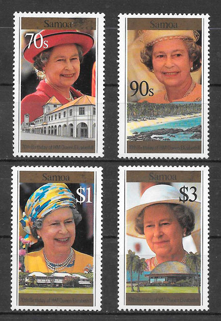 filatelia personalidades Samoa 1996