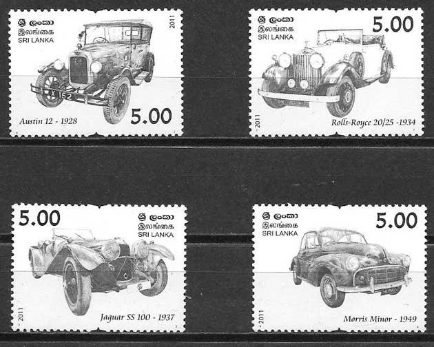 colección sellos transporte Sri Lanka 2011