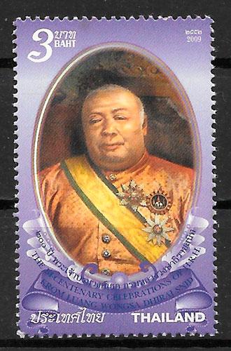colección selos personalidad Tailandia 2009
