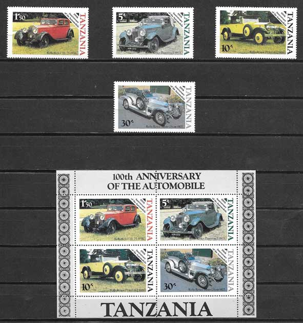 sellos transporte Tanzania 1986