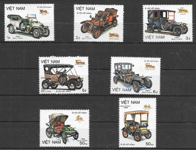 sellos transporte Viet Nam 1984