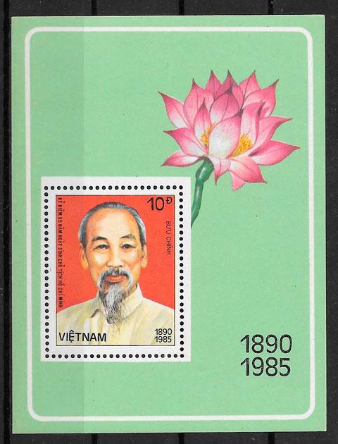 sellos personalidades Viet Nam 1985
