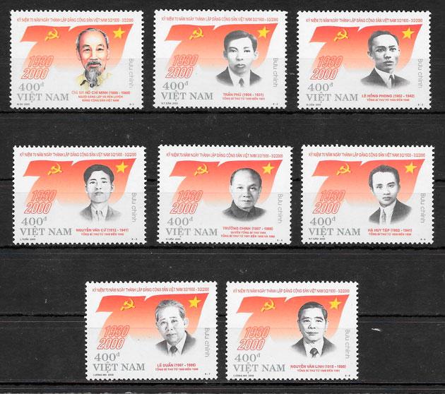 colección sellos personalidades Viet Nam 2000