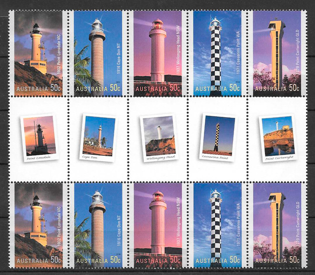 sellos faros Australia 2006