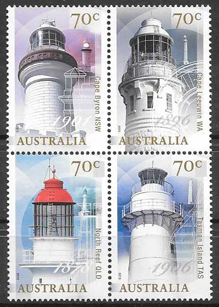 sellos faros Australia 2015