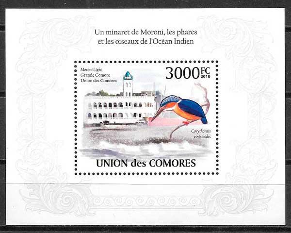 sellos faros Comores 2009