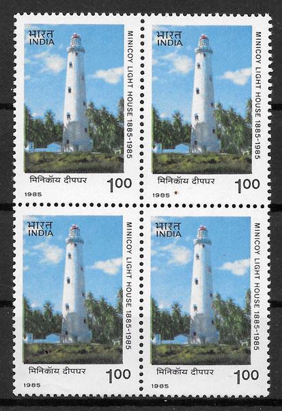 sellos faros India 1985