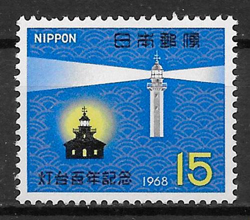 sellos faros Japón 1968