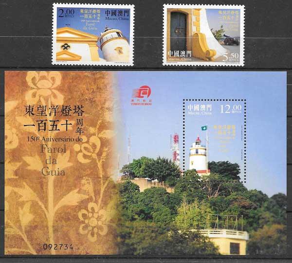 Filatelia faros Macao 2015