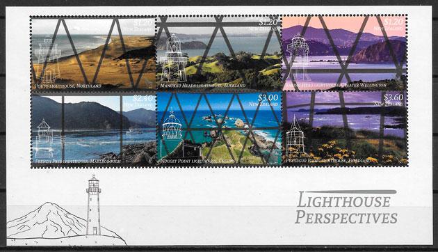 selos faros Nueva Zelanda 2019
