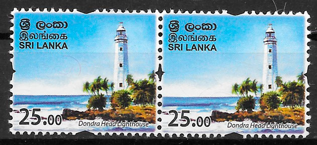 filatelia colección faros Sri Lanka 2018