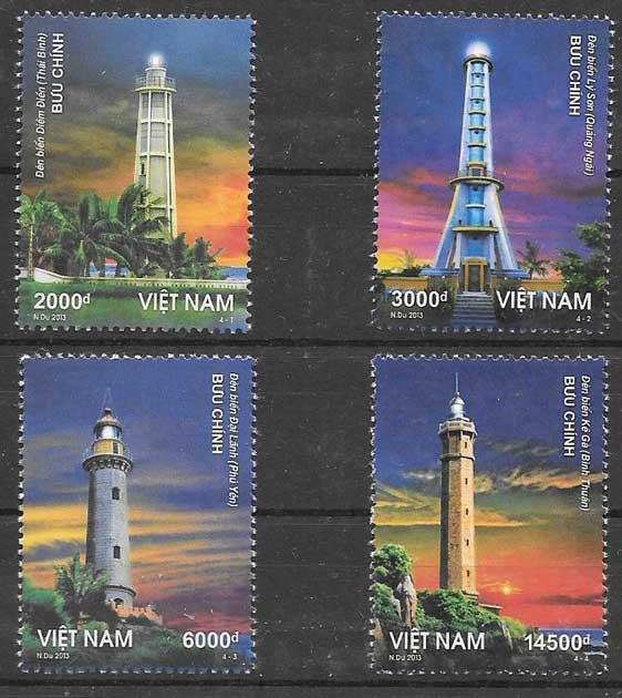 sellos faros Viet Nam 2013