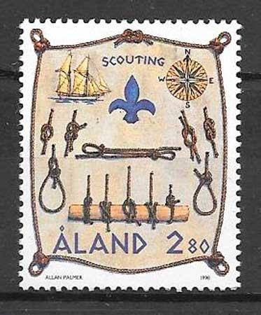 colección sellos temas varios Aland 1998