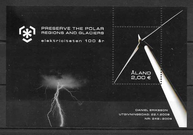 sellos temas varios Aland 2009