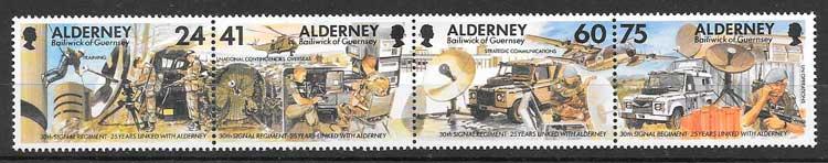 sellos temas varios Alderney 1996