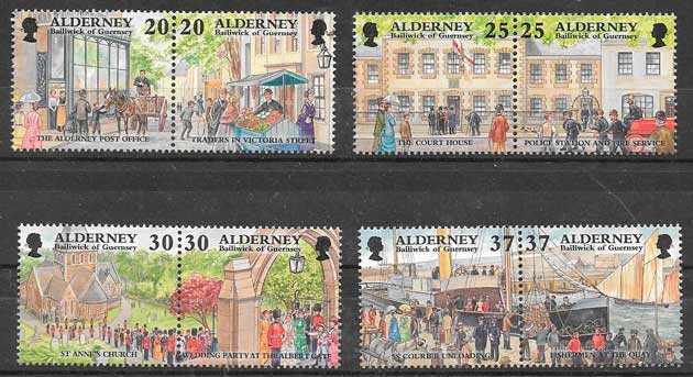 filatelia colección temas varios Alderney 1998