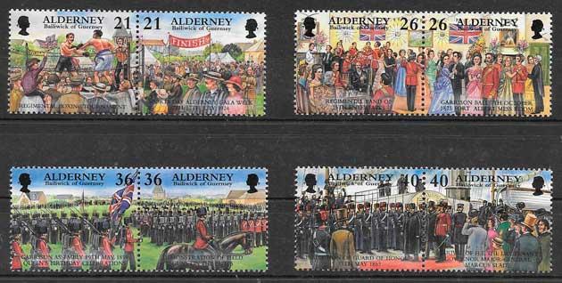 colección sellos temas varios Alderney 2000