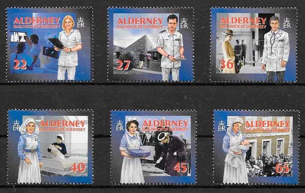 colección filatelia temas varios Alderney 2001