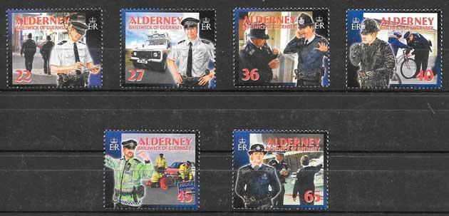 filatelia colección temas varios Alderney 2003