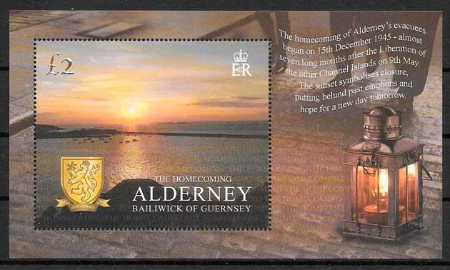 filatelia colección temas varios Alderney 2005